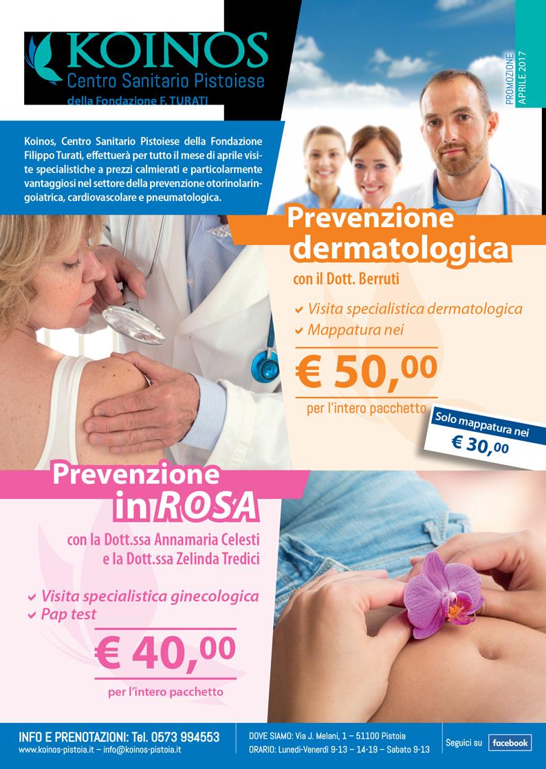 Mese prevenzione rosa e dermatologica