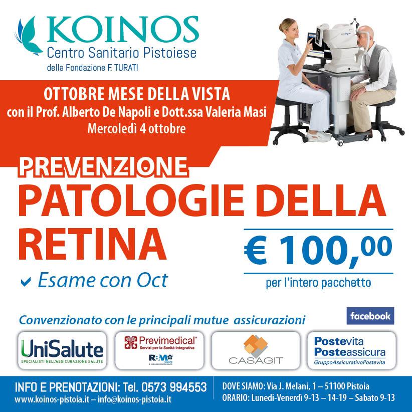 Visita di prevenzione per la retina