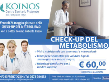 check-up metabolismo con il dotto Cosimo Roberto Russo