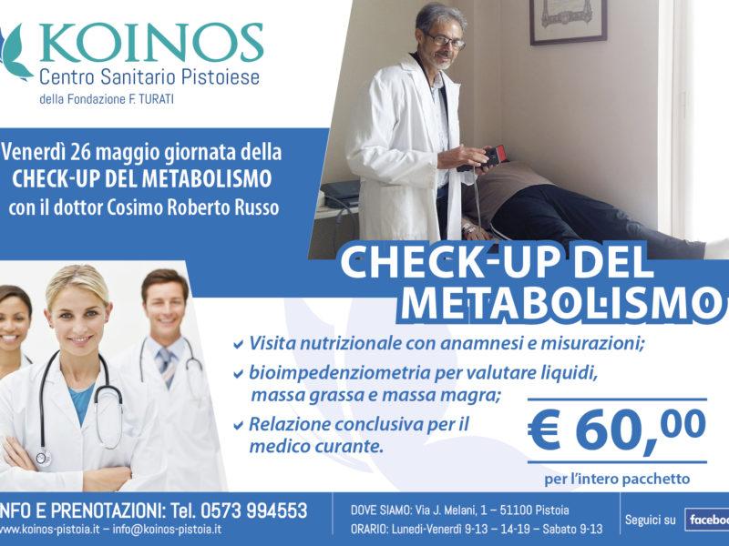check-up metabolismo con il dotto Cosimo Roberto Russo
